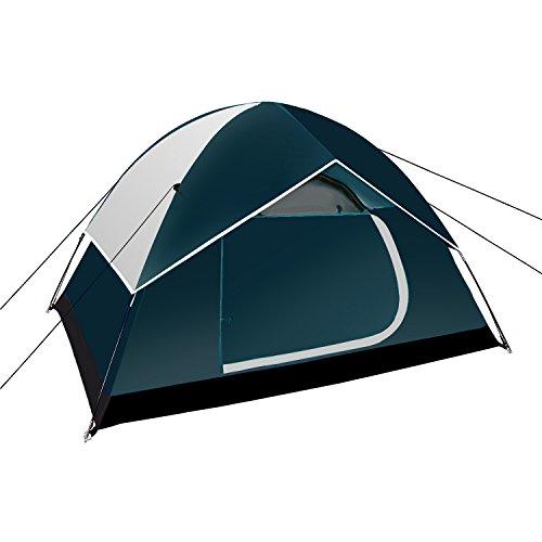 Neewer Rucksack Zelte Outdoor Sport Zelt - Kompakt Leichtgewicht 2 bis 3 Personen Pop-up Schutzraum für Kampieren Wandern Meeresstrand Park Berg Gebiete mit Reißverschluss Tragetasche, 83*59*47 Zoll (Dunkelblau / Grau)
