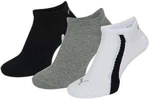 Puma Ring Formstripe Sneaker 3 Pack, White/Grey/Black - UK 2.5-5