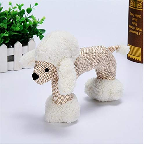 AMYY Dog Chewing Toys for Little Big Dog Bite Resistance Dog Squeaky Duck Toys Interactive Squeaky Puppy Dog Toys Pet Supplies M Poodle