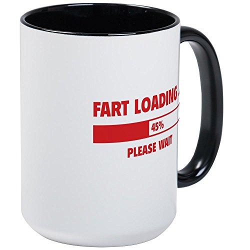 ding Große Tasse - Kaffeetasse, 425 ml Kaffeetasse, Weiß Large White/Black Inside ()