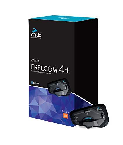 Cardo FREECOM 4 Plus – 4-Wege-Bluetooth-Kommunikationssystem mit natürlicher Sprachbedienung, Sound von JBL (Einzelpack) - 4
