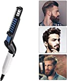 Figment Quick Hair Styler for Men Electric Beard Straightener Massage Hair Comb Beard Comb Multifunctional Curly Hair Straightening Comb Curler, Beard Straightener, Beard Straightener For Men (Black)
