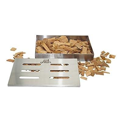 grillart Original BBQ Räucherbox aus 100% rostfreiem Edelstahl/Smokerbox / Aromabox/Grillzubehör für Gasgrill, Kugelgrill und Holzkohlegrill/Maße 21 x 13 x 3,5cm