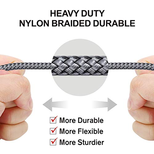 [Get Discount ] Wayona Nylon Braided WN3LG1 USB Syncing and Charging Cable sync and Charging Cable for iPhone, Ipad, (3 FT Pack of 1, Grey) 41x 2BVW3pGKL