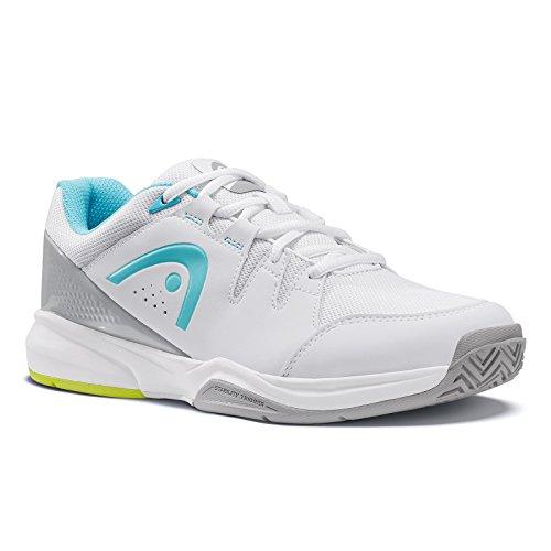 Head Brazer Womens, Zapatillas de Tenis para Mujer, Blanco (White/Light Blue), 36.5 EU