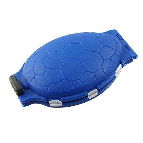 DealMux Blue Plastic Tortoise 12-Slot-Fischköder Köder Haken-Speicher-Fall-Kasten -