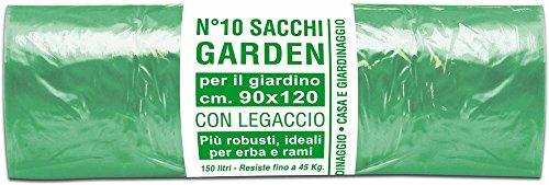 Sacchi Garden per giardino con legaccio colore verde 90x120 cm