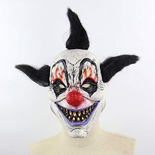 Edelehu Zauberer Clown Halloween Maske Scary Gruselige Horror Cosplay Kostüm Bandana Latex Scary Kopf Zombie Maske