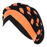Chemo copricapo in due colori treccia Beanie Hat Turbante estensibile  capelli lunghi sciarpa foulard chemioterapia cappello 9897d25aad87
