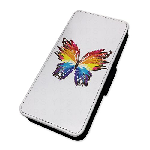 Pretty farfalle colorate – Flip cover in pelle copertura di carta Apple Iphone 8 Plus