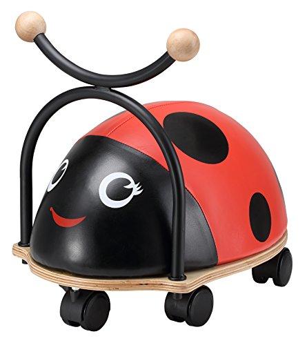 BIKESTAR® Original Wheely Rutscher Rutschfahrzeug für Kinder ab 18 Monate ★ Softy Bug Edition ★ Kleiner Marienkäfer