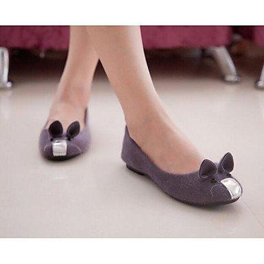 Wuyulunbi@ Scarpe Donna Primavera Estate Ballerina Appartamenti Per Casual marrone Viola Bianco Nero Noi6.5-7 / EU37 / UK4,5-5 / CN37