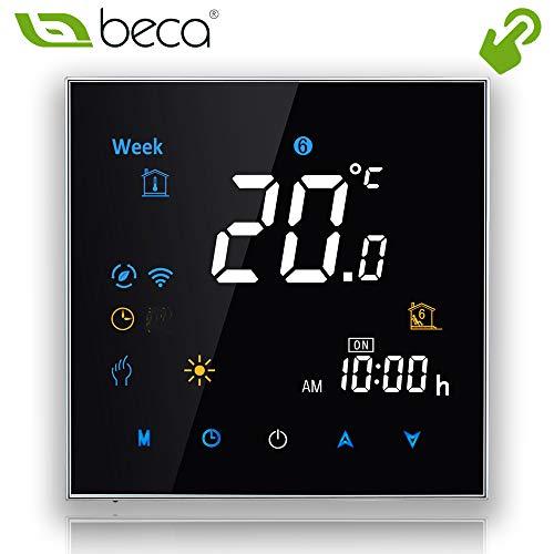 Thermostat-boden (BECA 95 ~ 240VAC Steuerung LCD Touch Screen Programmierbare 3A Wasser Boden Heizung Raum Thermostat)
