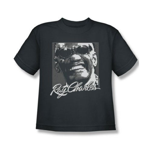 Ray Charles - Jugend Signature Brille T-Shirt, X-Large, Charcoal