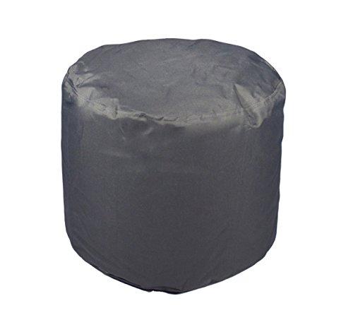 Kinzler S-10118/117 Sitzhocker rund, ca. Ø50 x H40 cm, Outdoor & Indoor, Sitzsack in vielen verschiedenen Farben, wasserabweisender Hocker, anthrazit