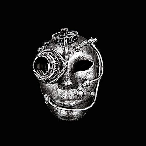 ZHOUHAOJIE Prom Mask_Mask Boutique Kunststoffmaske Seite Blume Prom Ladies