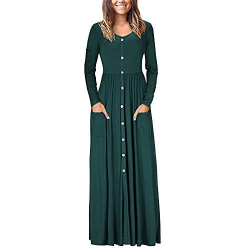 Damen Kleider,Daongff Elegant Maxikleid Vintage 1950erBoho Lang Maxi Kleid Abendkleider Ballkleid...