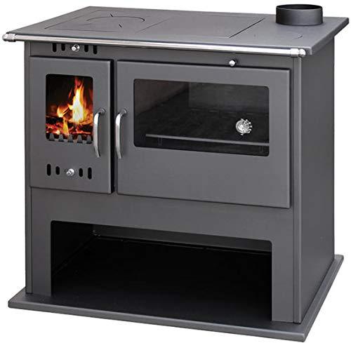 Estufa de leña con horno 15 kW Viki LUX