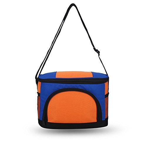 Kühltasche Thermotasche Picknick Thermotasche Lunch Bag Outdoor Modische Multi Funktion Picknick Thermal Box Wiederverwendbare Schulaufbewahrung, Auslaufsicher 600D Dicken Canvas 4.5L(Orange)