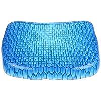 Mediawave - Store coussin en gel respirant, anti-escarres, ergonomique, assise prolongée, 37 x 30 x 4 cm