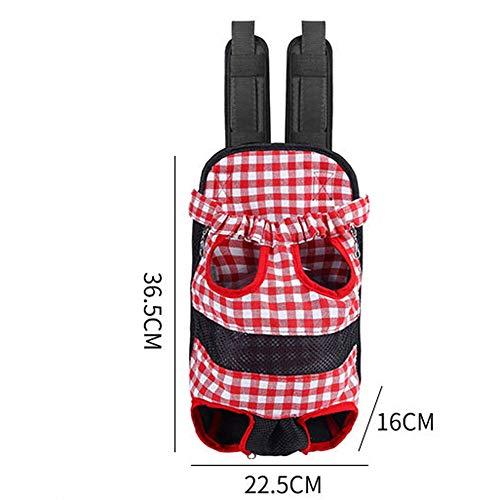 Pet Carrier Backpack, Adjustable Pet Front Dog Carrying Bag Backpack Travel Bag, Easy-Fit for Travel Hiking Camping Blue -