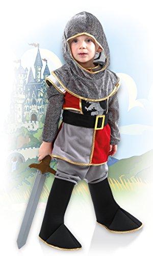 Boland 82239 – Kinderkostüm Tapferer Ritter, grau - 4
