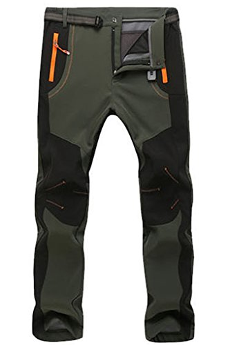 Micosuza Hiking Trousers Men Waterproof Zip Off Walking Long Length Pants Breathable Lightweight