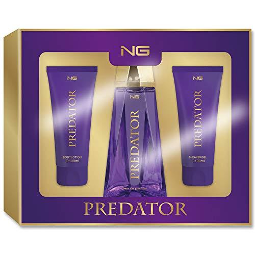 NG »Predator« Eau de Parfum Duftset 3tlg. Bodylotion Showergel Körperlotion Duschgel EdP Geschenkset Damen