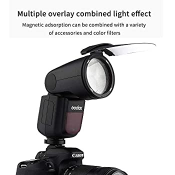 Godox V1-N Flash Speedlight for Nikon Camera 76Ws 2.4G TTL Round Head 1/8000 HS,1.5 sec. Recycle Time 260mAh Lithimu Battery + AK-RI Accessories kit