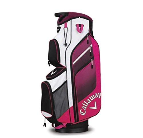 Callaway 2018 Chev ORG 14 Cart Bag Ladies Golf Trolley Bag 14-Way Divider Pink/Black/White