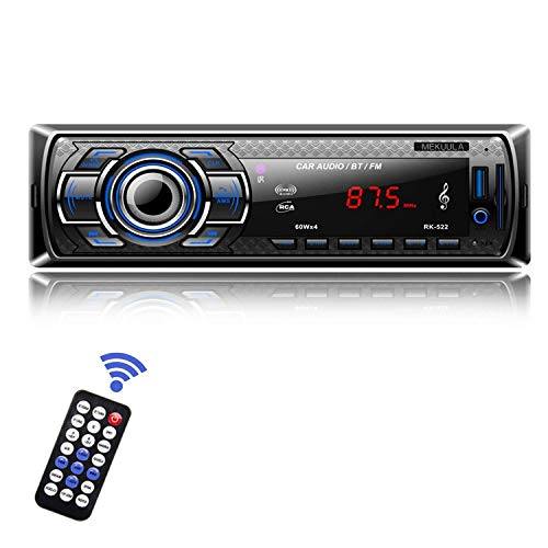 mekuula rk-522KFZ Digital Stereo,-INDASH Single-din Auto Stereo MP3Auto Player Freisprechen mit Wireless Fernbedienung Digital Media Receiver Bluetoooth/FM-Radio/AUX/SD/USB/Audio (Receiver Wireless Digital)