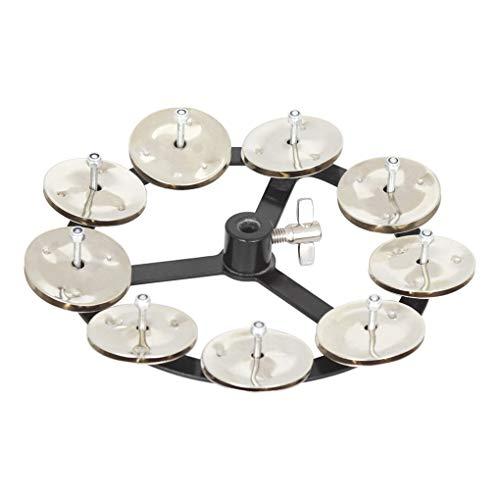 Demino 9 in 1 Stomping auf Glocken Trampel Fuß Step-on-Bell-Kupfer Becken Drum Set Schlaginstrument Zubehör
