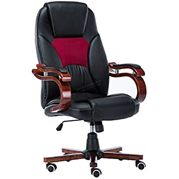 FoxHunter Computer Executive Office Desk Chair Faux Leather Swivel