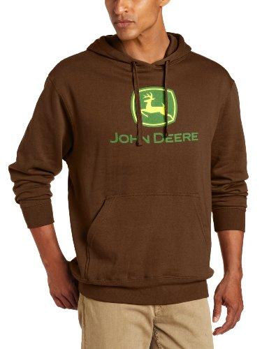 John Deere Hoodie Sweatshirt (John Deere Herren Sweatshirt Braun Braun Gr. L, Braun - Braun)