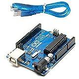 #8: RPISHOP.IN : Arduino Uno R3 ATmega328P ATMEGA16U2 Compatible with USB Cable