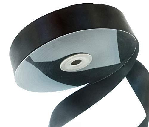 Gewebte Satin Ribbon Trim (Original Drency (TM) Satinband, doppelseitig, 2,5 cm 50 Yards. (Rot, Grün.) schwarz)