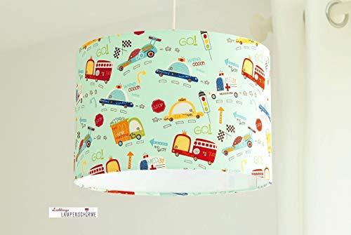 Lampenschirm für Jungs Kinderzimmer mit Autos