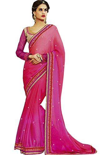 Sareeshop Georgette Saree With Blouse Piece (S1107_Multi_Free Size)