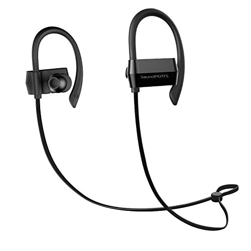 Bluetooth Headphones SoundPEATS Q23 Wireless Earphones Headset Over-Ear Noise Cancelling Sweatproof for Running with Mic Android/ iPhone 7 Plus/ Samsung and Other (Bluetooth 4.1, HFP,AVRCP, A2DP, 7 Hours Play Time) Test