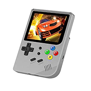SMAA Retro Game-Konsole, Handheld-Konsole, OpenDingux Tony-System Built-in 3007 Classic Game Console, 3-Zoll-IPS-Bildschirm tragbare Videospielkonsole,Schwarz