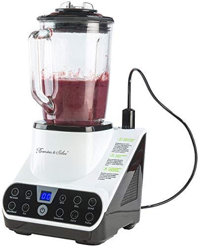 Rosenstein & Söhne Vakuum Mixer: Standmixer mit Vakuumier-Funktion & LED-Touch-Display, 1,5 l, 1.300 W (Küchen-Mixer)