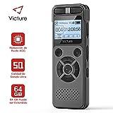 Victure Grabadora de Voz Digital Portátil, 8GB 1536kbps HD Grabador de Sonido con Reproductor de...
