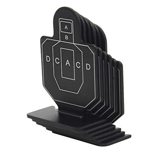 ELENXS 6PCS / Set métal Airsoft Chasse Tir Tactique Set Target Toy Durable Tir à l'arc Kit Target Practice Accessoires