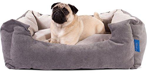 Silentnight Micro-Klima Kuschel Hundebett - ( Mittel 66x55cm ) - Signatur Nerzfarben