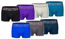 UOMO Boxershorts Sports. 7er Wochenpack in aktuellen Trendfarben (XL/XXL=(7/8)-7er Pack, Multi)  Von Men's Fashion Lounge®