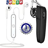 #4: Master Gadget S6 Sports In Ear Bluetooth 4.1 Headset With K1 Wireless Stereo Headset excellent sound quality and an amazingly lightweight design Compatible with Xiaomi, Lenovo, Apple, Samsung, Sony, Oppo, Gionee, Vivo Smartphones (One Year Warranty) (multi-colour)