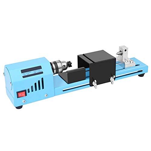 150W Mini Tornio Perline Lucidatrice Macchina DIY CNC Per la Lavorazione del Legno Tavolo Legno Strumento Fai da Te (Blu)