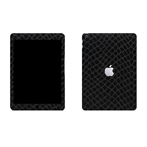 Apple iPad 9.7 (2018) Schlangenhaut Design Schwarz Schutzfolie Designfolie Skin Faceplates Schutz Folie (Herstellung in Deutschland)