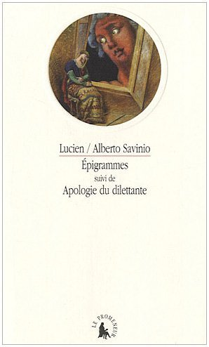 Epigrammes Apologie Du Dilettante [Pdf/ePub] eBook