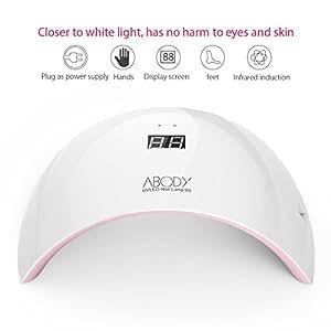 Abody Lampada LED Unghie  24W Lampade Asciuga Unghie UV Fornetto Unghie Profesionale Carica USB con Temporizzatori